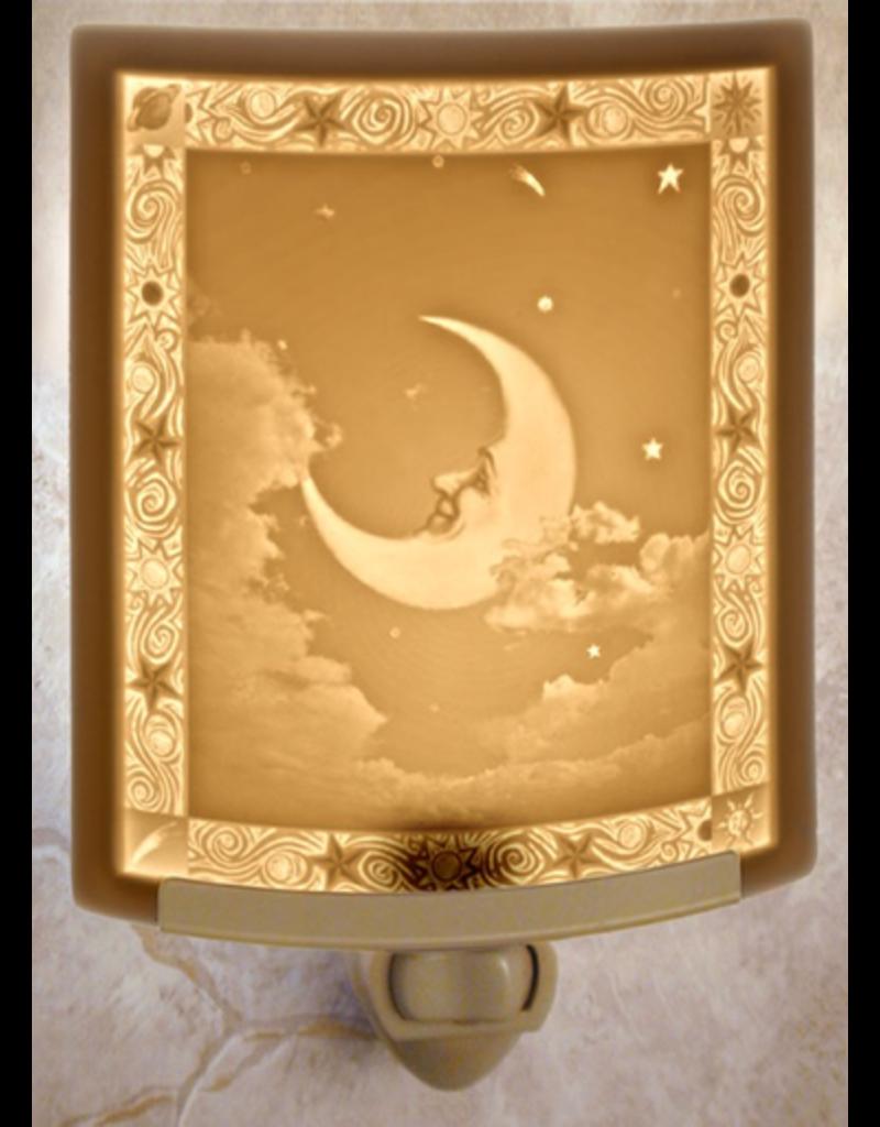 Porcelain Garden MAN IN THE MOON (Lithophane Nightlight)