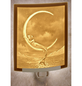 Porcelain Garden MERMAID & THE MOON (Lithophane Nightlight)