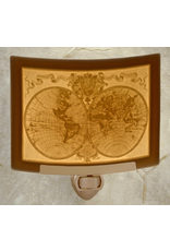 Porcelain Garden OLD WORLD MAP (Lithophane Nightlight)
