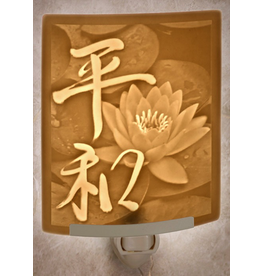 Porcelain Garden PEACE (Lithophane Nightlight)