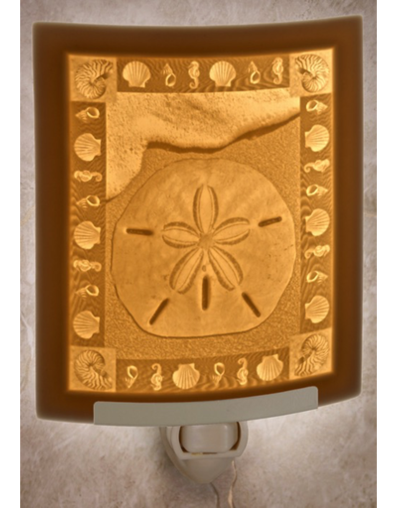 Porcelain Garden SAND DOLLAR (Lithophane Nightlight)