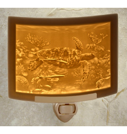 Porcelain Garden SEA TURTLE (Lithophane Nightlight)