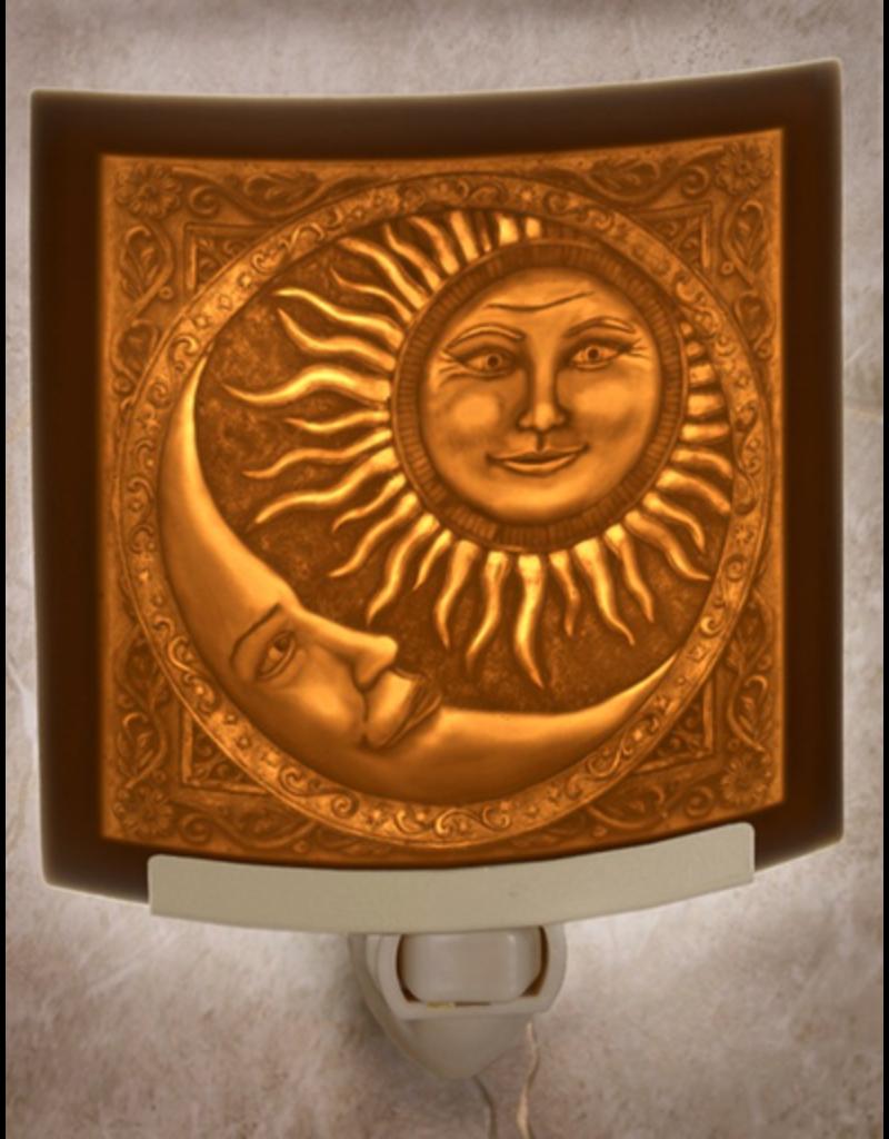 Porcelain Garden SUN AND MOON (Lithophane Nightlight)