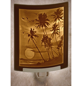 Porcelain Garden TROPICAL SUNSET (Lithophane Nightlight)