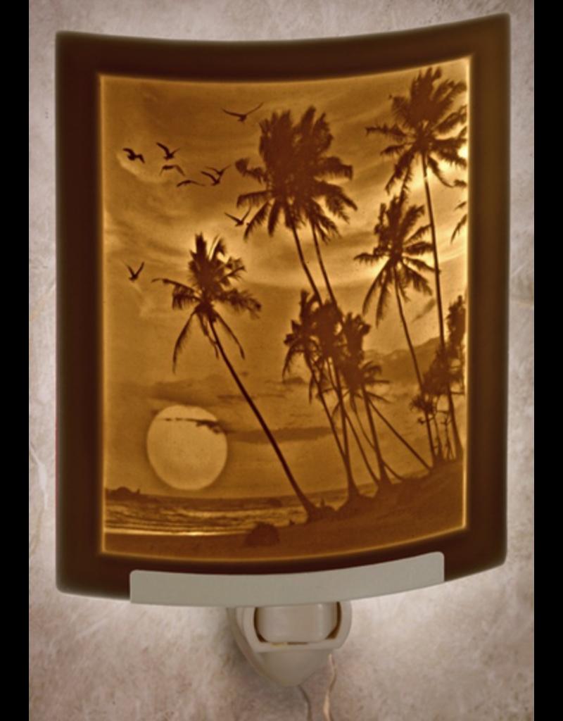 Porcelain Garden TROPICAL SUNSET (Lithophane Nightlight)