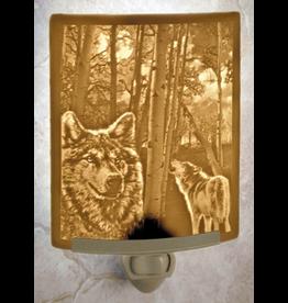 Porcelain Garden WOLVES (Lithophane Nightlight)