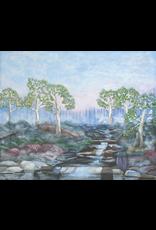 "Robert Hinkelman Soft Sunrise at the Stream (Original Acrylic, Signed, Framed, 18x24"")"