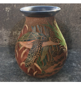 "Mundo Handmade Pot (Sea Life, Assorted, Sm, 8""H x 5""D)"