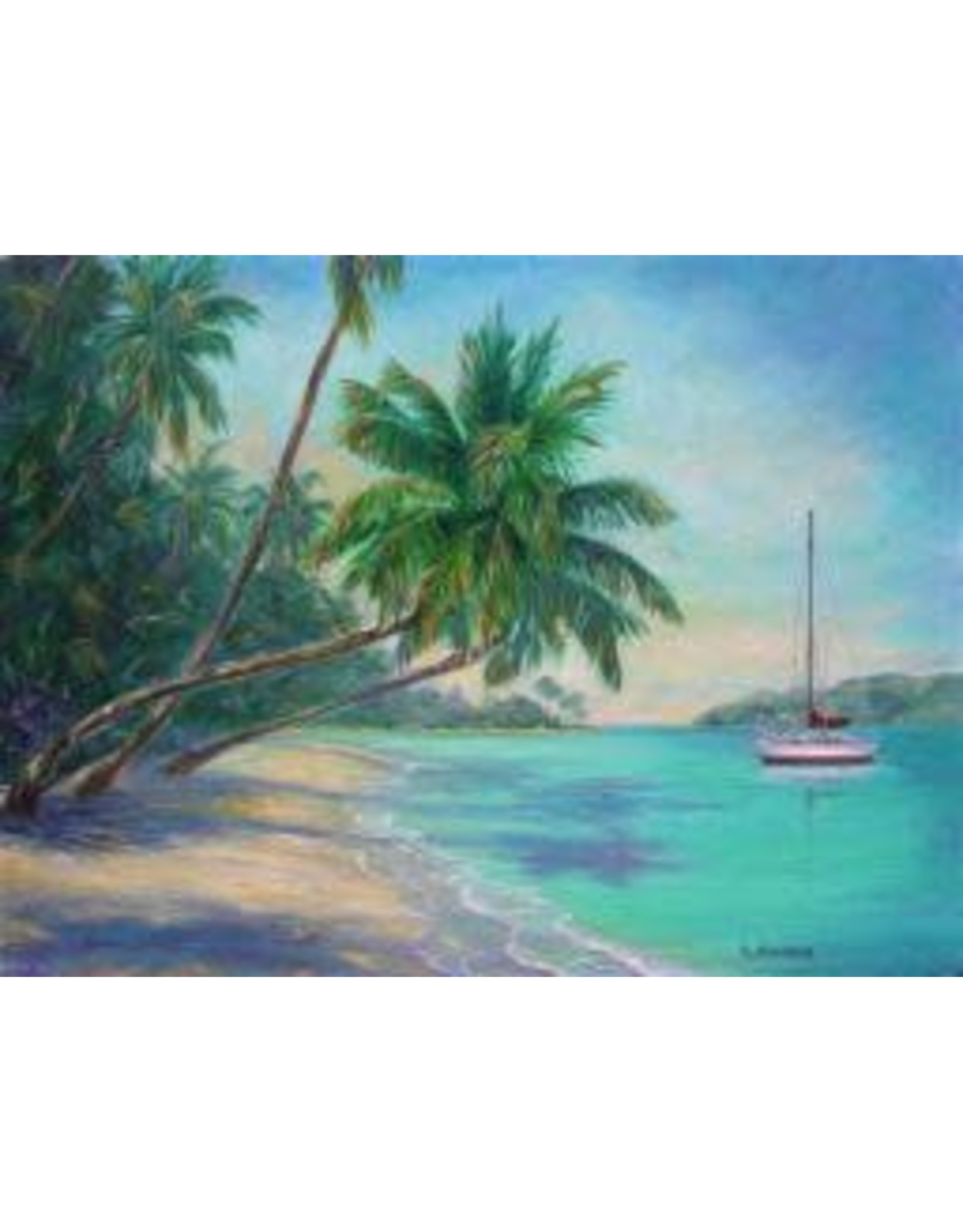 Ruthann Hewson Sailing the Caribbean (Print, Matted,11x14, RUTH)