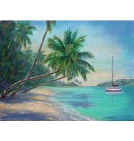 Ruthann Hewson Sailing the Caribbean (Print, Matted,11x14, RUTH)