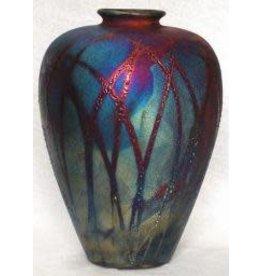 Raku Art Vase (Bottle, #069)