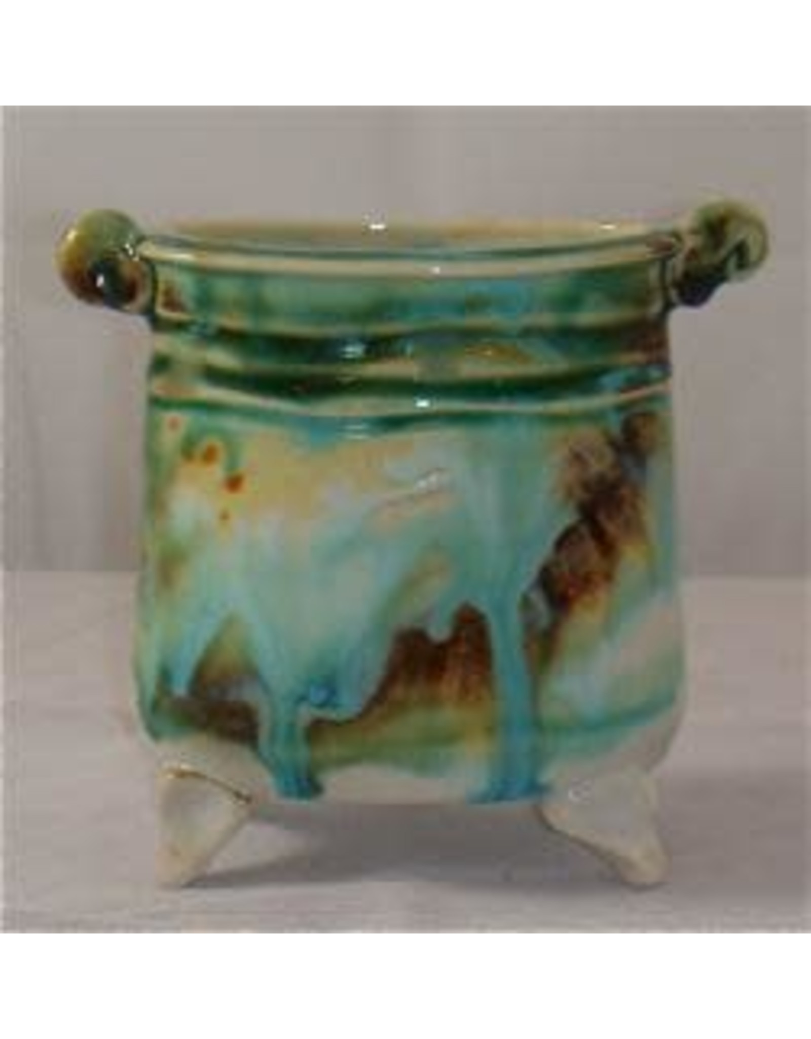 Gail Snively VASE, oval/square, footed, GAIS)