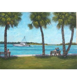 Ruthann Hewson View From Sandsprit Park (Original Oil, Framed, 18x24)