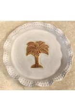 Charlestowne Porcelaine PLATE (Palmetto, Beaded, RND, #67, CHAP)