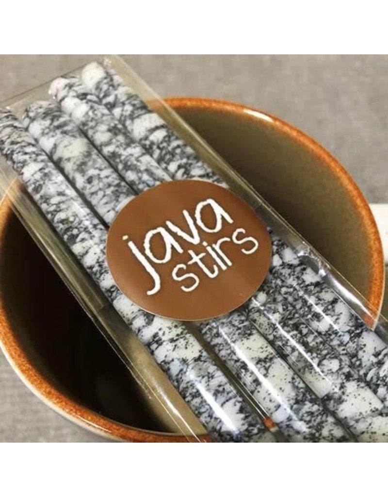 1550art JAVA STIRS (Fused Glass, Set of 4, Assorted Designs)