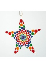 Glassworks Northwest STAR (MANDALA) ORNAMENT