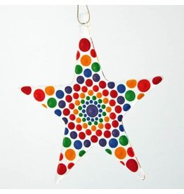 Glassworks Northwest STAR ORNAMENT (MANDALA, KTK)