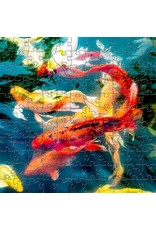 Zen Art & Design Koi (Sm, 126 Pieces, Artisanal Wooden Jigsaw Puzzle)