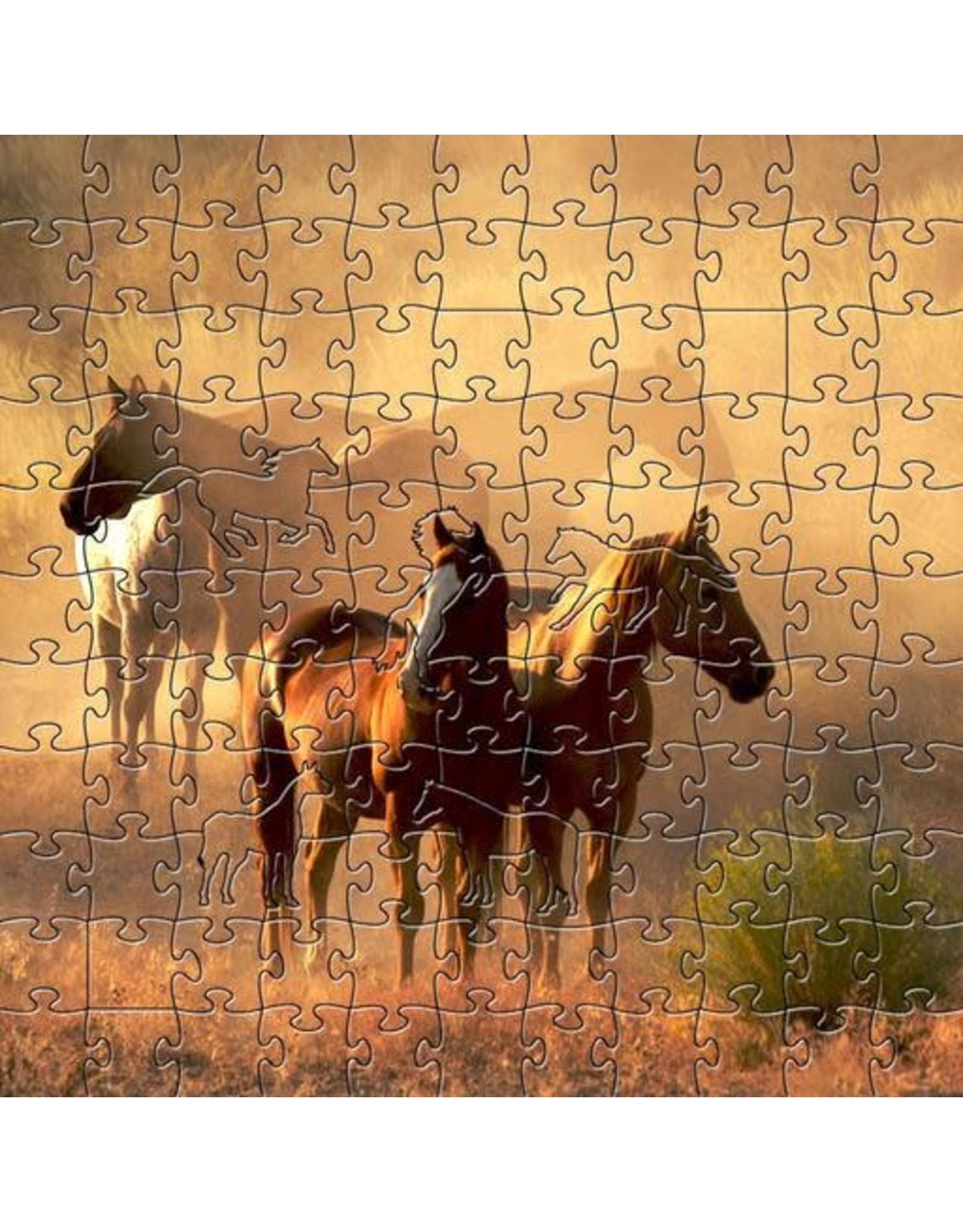 Zen Art & Design Peaceful Gathering (Teaser, 50 Pieces, Artisanal Wooden Jigsaw Puzzle)