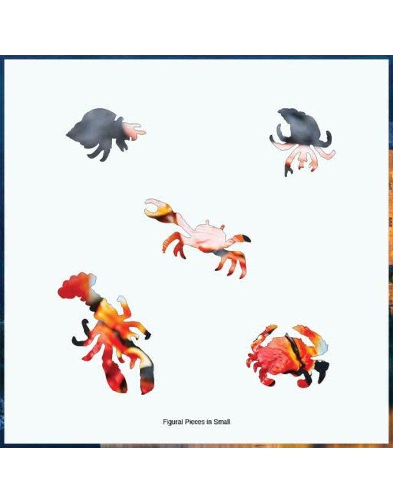 Zen Art & Design Red Rock Crab (Md, 203 Pieces, Artisanal Wooden Jigsaw Puzzle)