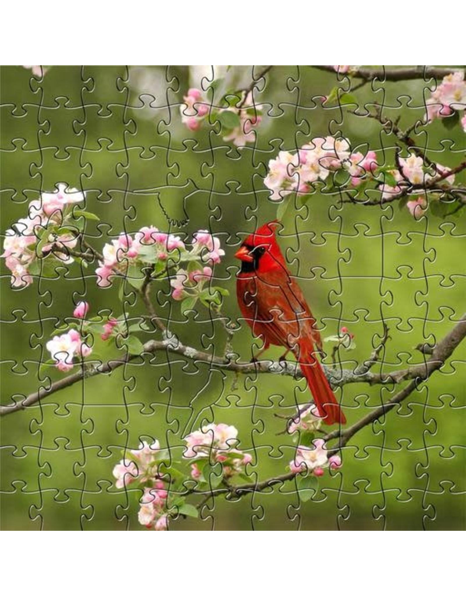 Zen Art & Design Summer Cardinal (Teaser, 50 Pieces, ZEN Wooden Jigsaw Puzzle)