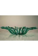 Karen Hovis Coral Bowl (Green/Clear, 14D. x 3H)
