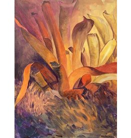 Sharon McCuen Bromeliads (Original Acrylic, Gallery Wrap, 18x24)