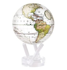 "Mova Globes ANTIQUE TERRESTRIAL WHITE (6""D.)"