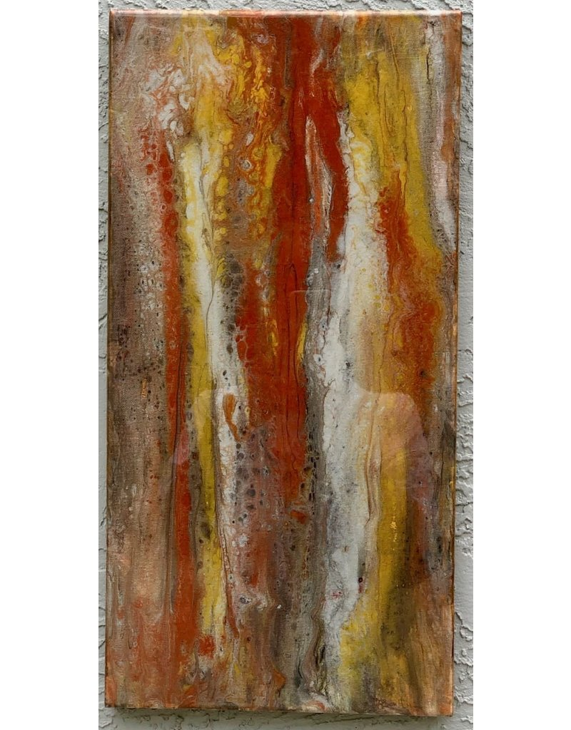 Sandra Stroot Red Granite (Fluid Acrylic, 10x20)