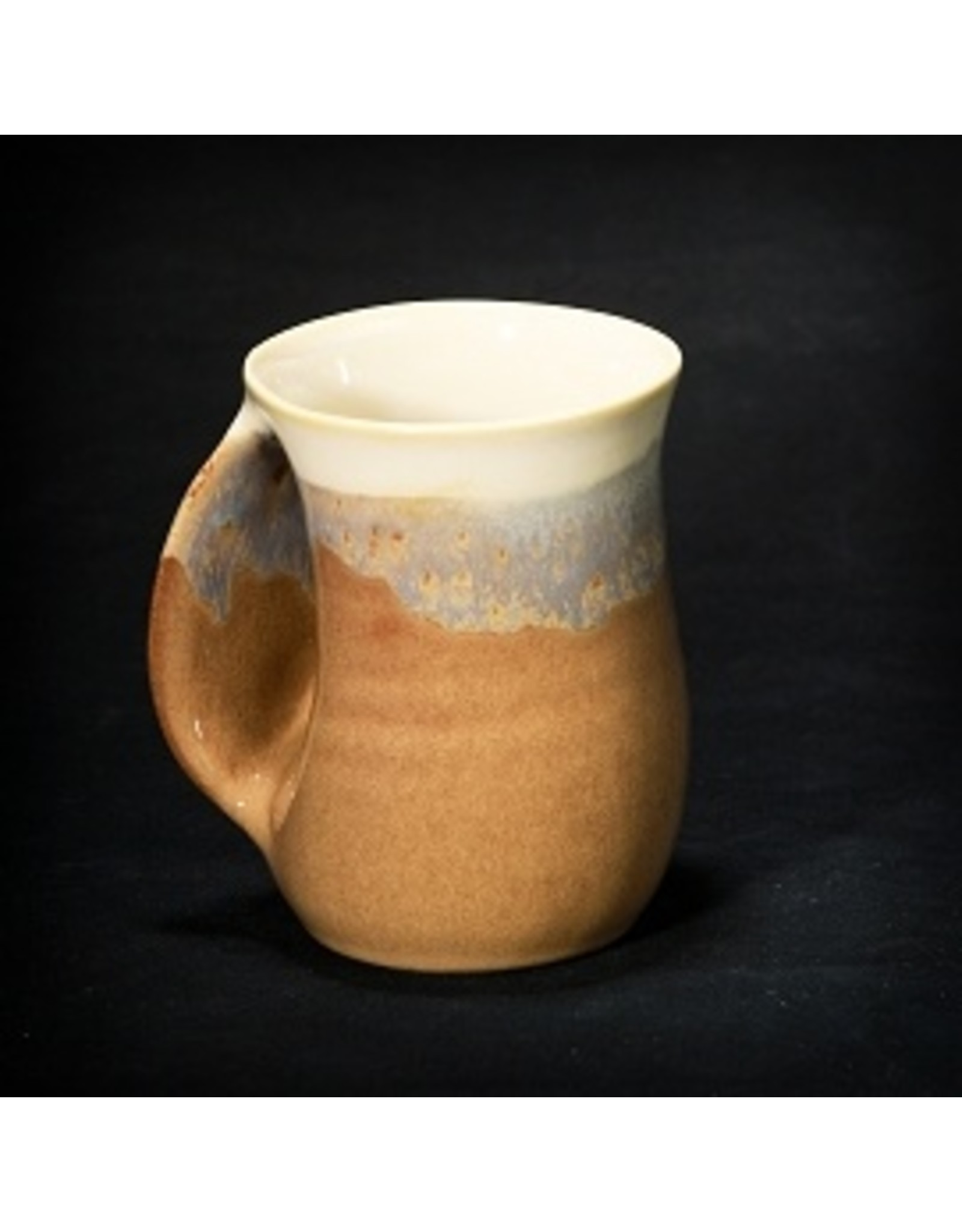 Clay In Motion HANDWARMER MUG (LEFT, 14 oz, CLAY)