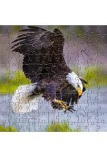Zen Art & Design Bald Eagle (Teaser, 50 Pieces, Artisanal Wooden Jigsaw Puzzle)