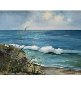 Carol Kepp Jensen Beach (Original Oil, Framed, Signed, 16x20)