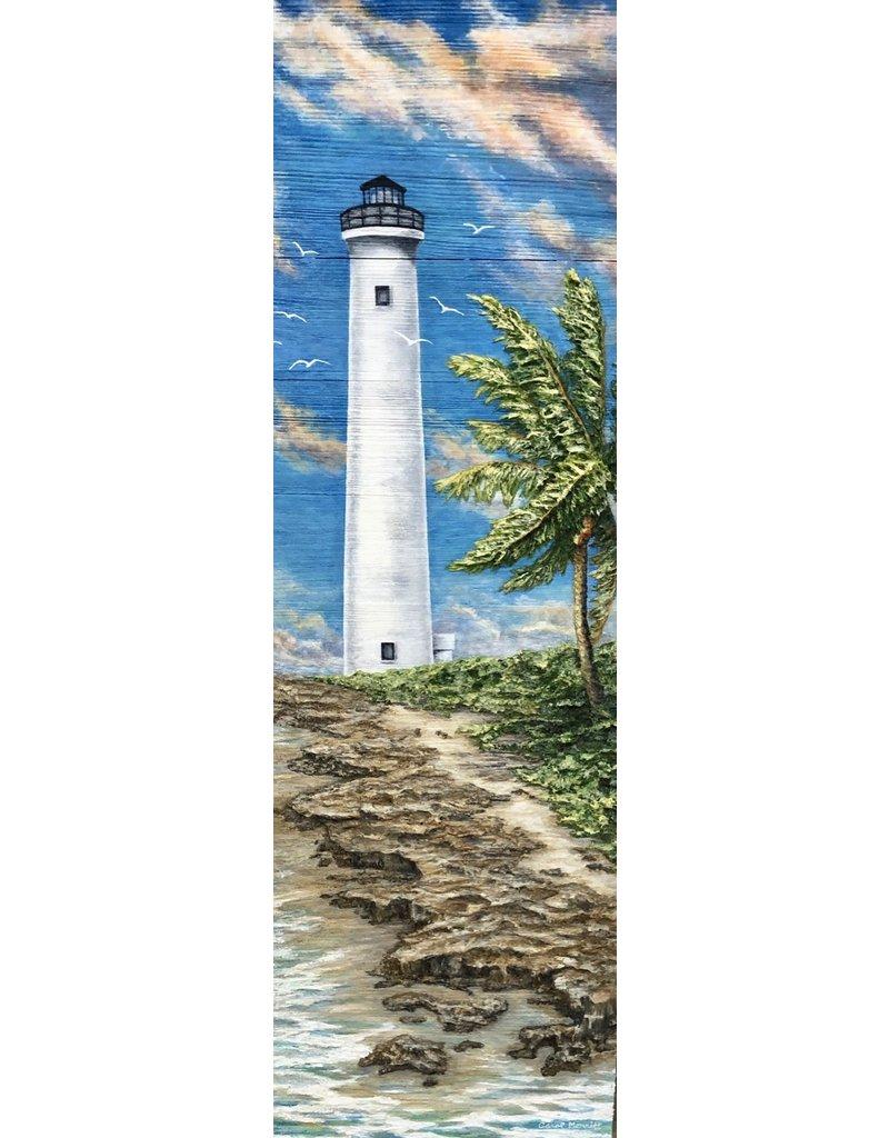 Carol Merritt Light of Hope (Original Acrylic, Impasto on Wood, Signed, 36x12)
