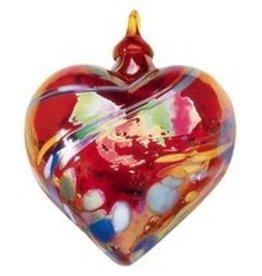 "Glass Eye Studio ORNAMENT (HEART, 3""D.)"