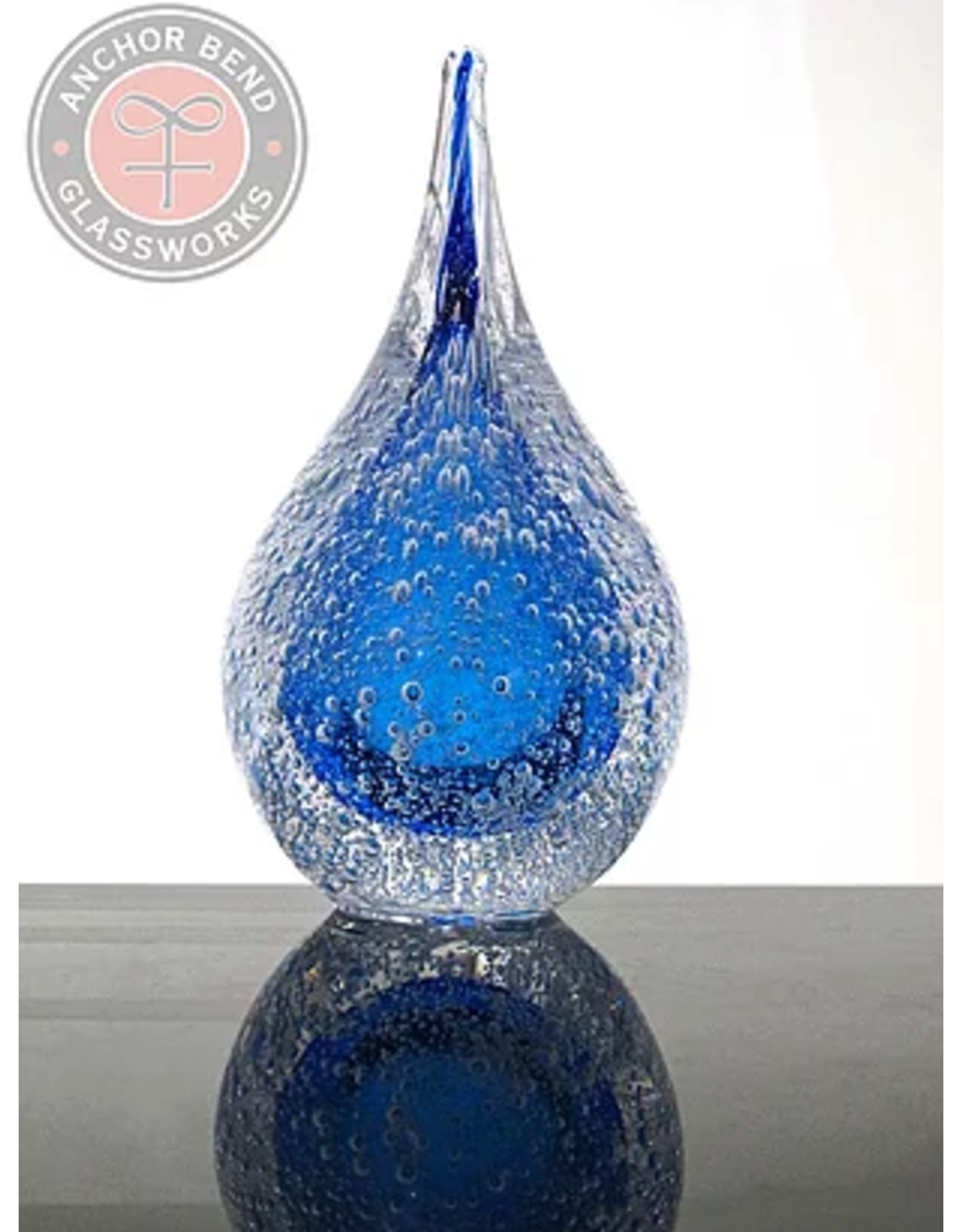 Anchor Bend Water Drop w/Bubbles Sculpture
