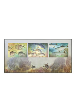 Ken Dara TRIPLEX FISH PRINT (Gyotaku, Horizontal, Asstd., 20x10 Frame, KEND)