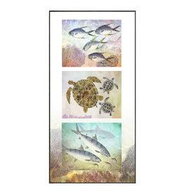 Ken Dara TRIPLEX FISH PRINT (Gyotaku, Vertical, Asstd., 20x10 Frame)