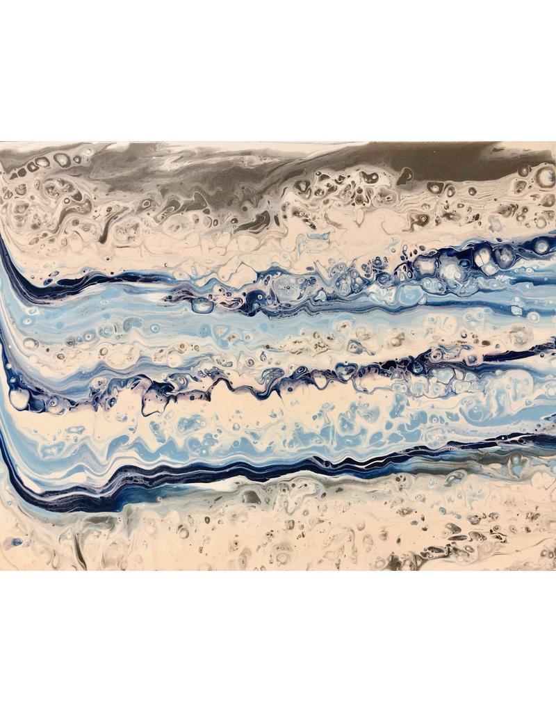 Paula Moore Current Flow (Original Fluid Acrylic w/Poly Acrylic) 14x18)