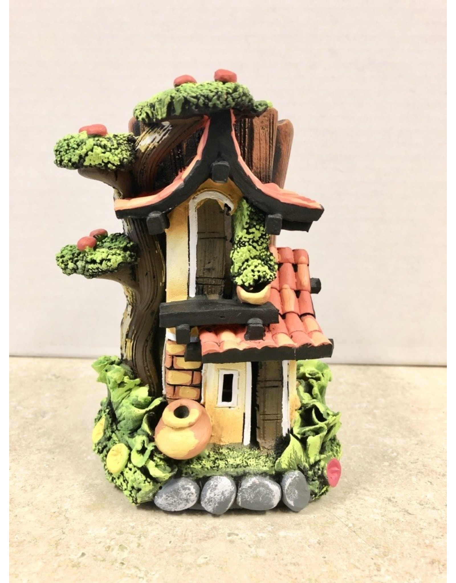 Ingrid Hooper Clay Touch Stationary House w/Apple Tree