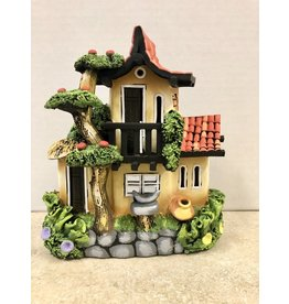 Ingrid Hooper Clay Touch Straw Roof House w/Apple Tree