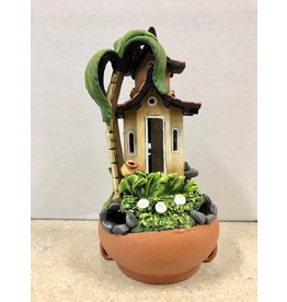 Ingrid Hooper Clay Touch Candle House w/Palm Tree