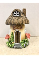 Ingrid Hooper Clay Touch Mushroom Brown House w/White Dots