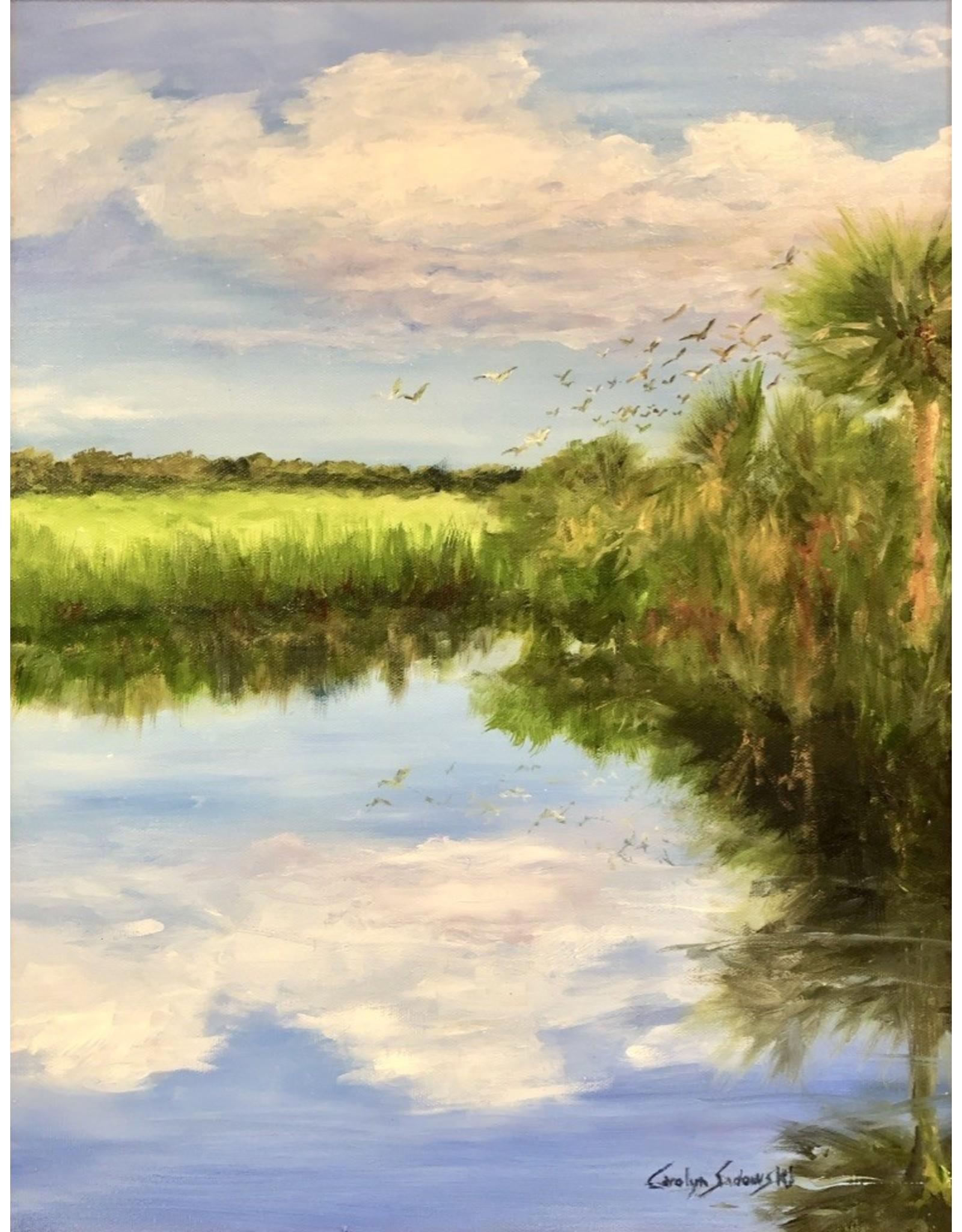 Carolyn Sadowski In The Glades (Original Oil, Framed, Signed, 14x18)