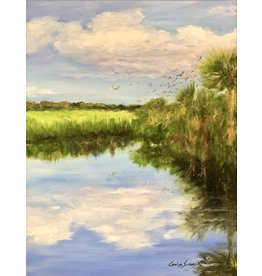 Carolyn Sadowski In The Glades (Original Oil, Framed, Signed, 14x18, CARS)