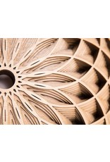 "Philip Roberts Dahlia (Wood Relief Sculpture, 16x6"")"