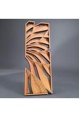 """Philip Roberts Flow (Wood Relief Sculpture, 16x6"""")"""