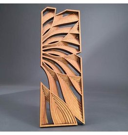 "Philip Roberts Flow (Wood Relief Sculpture, 16x6"")"