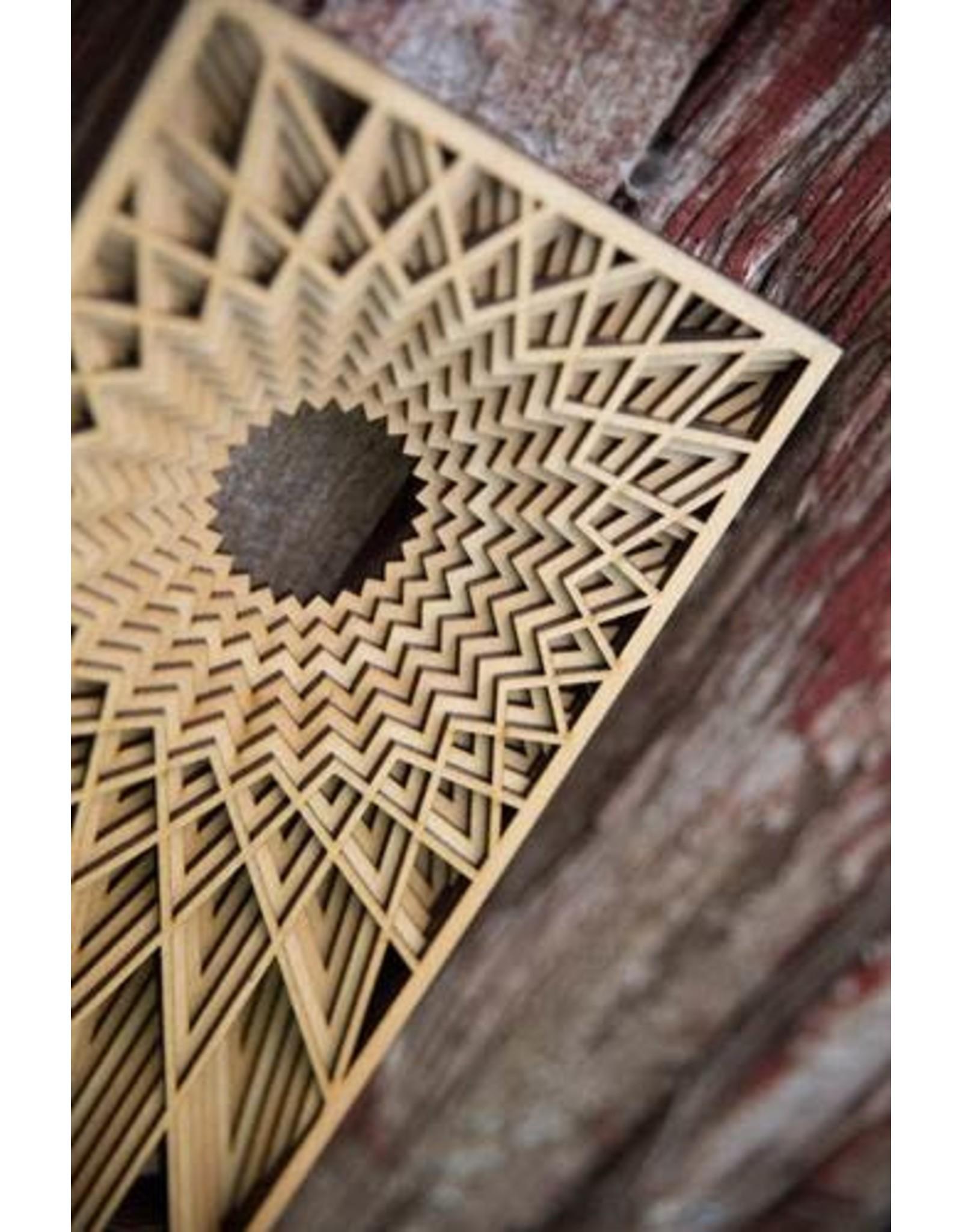 """Philip Roberts Grain Under Sun (Wood Relief Sculpture, 16x6"""")"""