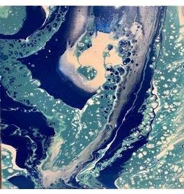 Paula Moore Over Tropical Waters (Original Fluid Acrylic w/Poly Acrylic) 12x12)