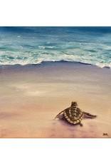 Susan Roberts Off & Running I (Original Oil, Gallery Wrap, 6x6)